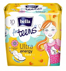 Прокладки bella for teens Ultra Energy Deo, 10 шт.